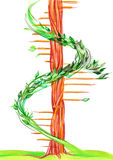 Ladder. Painting of natural ladder made of tree Stock Image
