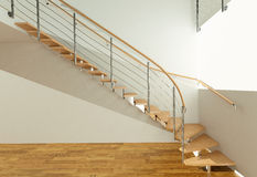 Ladder. Stairs to the stringers. Visualization Stock Image