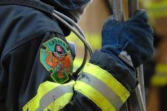 Ladder 6 van het brandweerkorps Chinatown Stock Afbeelding