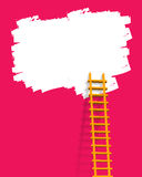 Ladder. Illustration of ladder like advertisement concept stock illustration