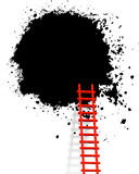 Ladder. Illustration of ladder like advertisement concept,grunge background stock illustration