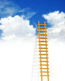 Ladder. Illustration of ladder on sky background vector illustration
