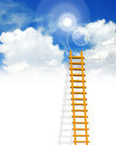 Ladder. Illustration of ladder on sky background stock illustration