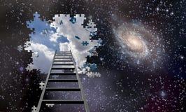 Ladder aan de hemel royalty-vrije stock foto