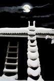 Ladder aan de maan Royalty-vrije Stock Afbeelding