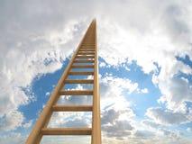 Ladder aan de wolken Stock Afbeeldingen