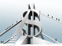 Ladder aan succes Royalty-vrije Stock Foto's