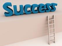 Ladder aan succes royalty-vrije illustratie