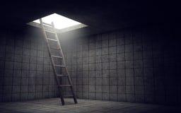 Ladder aan vrijheid royalty-vrije illustratie