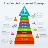 Ladder achievement concept. Infographic template of 8 stages way to success. Concept with 8 options, steps. Can be used for workflow layout, diagram, step up Stock Photo
