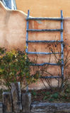 Ladder on Adobe House in Albuquerque Royalty Free Stock Photos