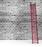 Ladder against near old wall Stock Photography