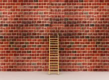 Ladder against near old wall Royalty Free Stock Image