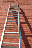 Ladder Against Wall stock photo