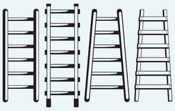 Ladder against the wall Royalty Free Stock Image