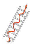 Ladder with arrow. In white background eps Royalty Free Stock Photo