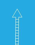 Ladder Arrow Up Royalty Free Stock Photo