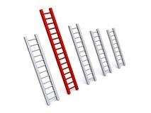 Ladder bar graph Stock Photo