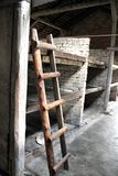 Ladder in barrack in Auschwitz Birkenau Concentration Camp Royalty Free Stock Image