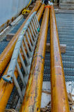 Ladder with Beams. Images taken while on a Fishing trip in Bar Harbor Maine USA royalty free stock photography