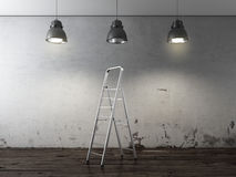 Ladder in binnenland royalty-vrije stock foto's