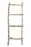 Ladder from birch trunks isolated royalty free stock photo