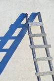 Ladder with Blue Shadow in Santorini, Greece Stock Images