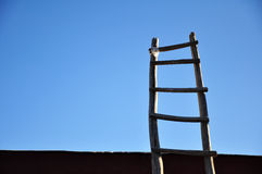 Ladder with blue sky. Success meaning Stock Photo