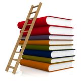 Ladder and book Stock Photos