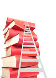 Ladder and books Stock Images