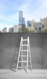 Ladder and building Royalty Free Stock Images