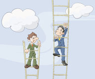 The ladder of career Stock Images