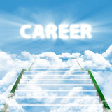 Ladder of career. Illustration of stairway with text of CAREER. symbolising of the stairway to high career Royalty Free Stock Image