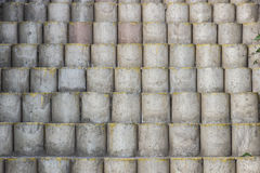 Ladder cement blocks. Royalty Free Stock Photography