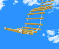 Ladder Climb Means Upwards Steps And Victors Royalty Free Stock Image