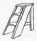 Ladder (Clipping path) Stock Images