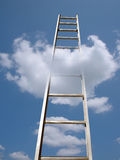 Ladder in clouds Royalty Free Stock Photography