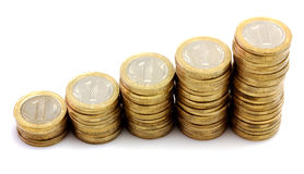 Ladder of coins Royalty Free Stock Photo