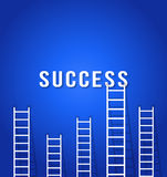 Ladder competition  to success Stock Photo