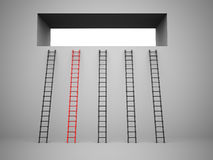 Ladder concept one Royalty Free Stock Image