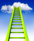 Ladder. 3D illustration of an ladder to the clouds Stock Image