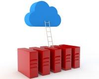 Ladder de leider in een wolk Stock Afbeelding