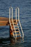 Ladder die in het overzees leidt Stock Afbeelding