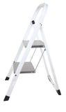ladder die op wit wordt geïsoleerd? Stock Foto's