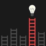 Ladder die tot lightbulb leiden Stock Illustratie