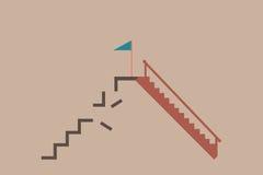 Ladder different ways. vector illustration