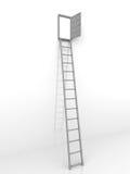 Ladder and door stock illustration