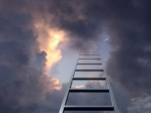 Ladder into dramatic sky Royalty Free Stock Photography