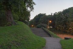 Ladder in een park in het centrum van Tallinn stock foto's
