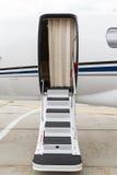 Ladder in een privé straal stock afbeelding